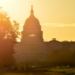 Washington DC - United States Capitol building silhouette