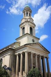 Washington DC, United States. National City Christian Church - neoclassical building at Thomas Circle. Protestant denomination.