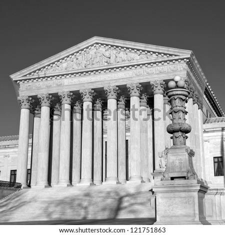 Washington, DC, United States, Supreme Court, B/W
