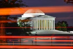 Washington DC, United States - Thomas Jefferson Memorial  at night