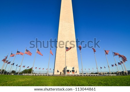 Washington DC, Washington Monument in a clear sky
