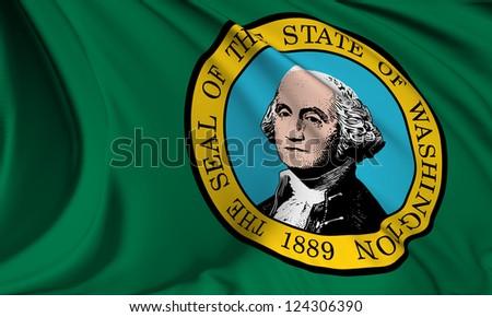 Washington flag - USA state flags collection no_3