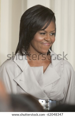 WASHINGTON - JUNE 29: US First Lady Michelle Obama at the east room of the White House June 29, 2009 in Washington, DCat the east room of the White House