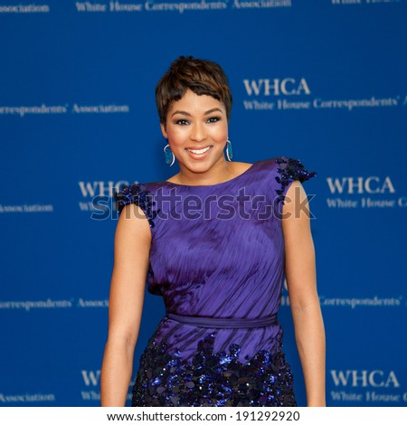 WASHINGTON MAY 3 - Alicia Quarles on the red carpet at the White House Correspondents' Association Dinner May 3, 2014 in Washington, DC
