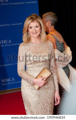 WASHINGTON MAY 3 - Ariana Huffington arrives at the White House Correspondents� Association Dinner May 3, 2014 in Washington, DC