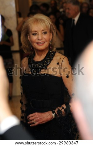 WASHINGTON - MAY 9: Barbara Walters arrives at the White House Correspondent's Dinner on May 9, 2009 in Washington, DC.