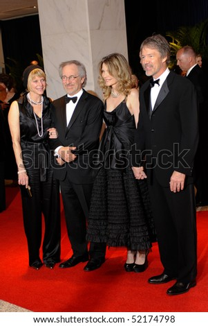 WASHINGTON MAY 1 - Kate Capshaw, Steven Spielberg, Michelle Pfeiffer and David Kelley arrive at the White House Correspondents Association Dinner May 1, 2010 in Washington, D.C.