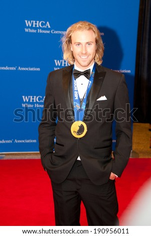 WASHINGTON MAY 3 - Olympic gold medalist Sage Kotsenburg arrives at the White House Correspondents� Association Dinner May 3, 2014 in Washington, DC