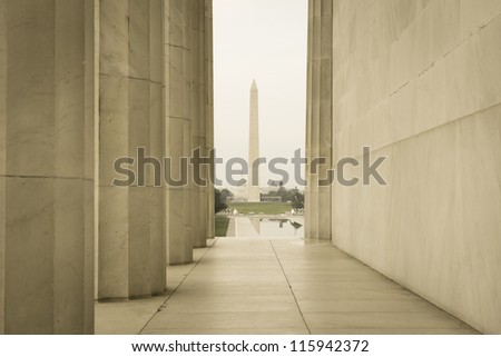 Washington Monument and Capitol Hill