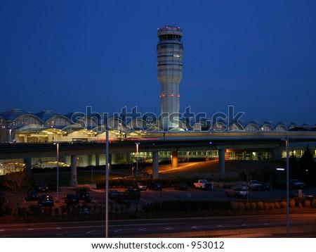 Washington National Airport Tower and Metro