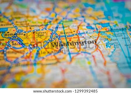 Washington on map