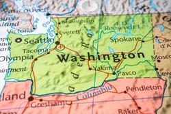 Washington on the USA map