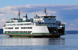 Washington State ferry in the Puget Sound