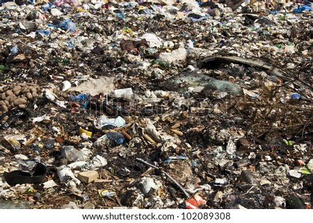 waste dump in the photo