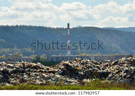Waste dumps near the city.