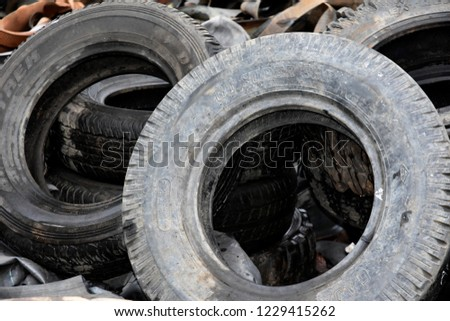 Waste of used tires