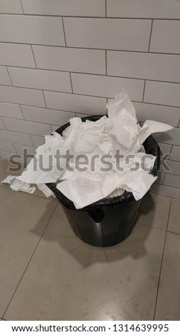 waste toilet papers Stok fotoğraf ©