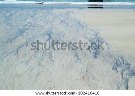 waste water leak on beach