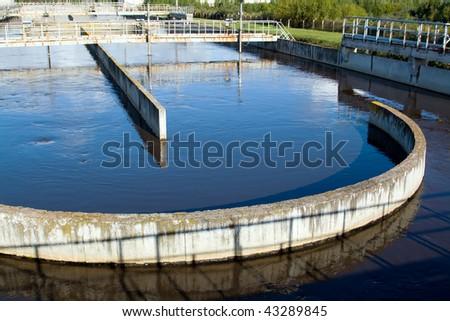 Waste water plant flow