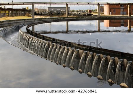 Waste water treatment plant view