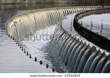 Waste water waterfall
