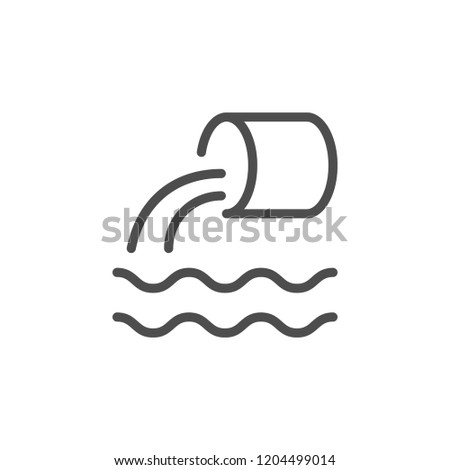 Wastewater line icon isolated on white