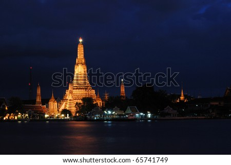 Wat Arun, Bangkok Thailand, Wat Arun is one of Bangkok's best know landmark. view from Chao Phraya river .