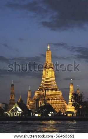 Wat Arun Temple Thailand at Night