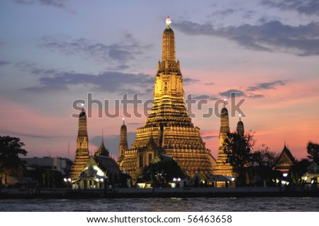 Wat Arun Temple Thailand Twilight
