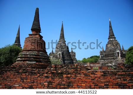 Wat Chai Wattanaram. Ruins of Buddhist temple in Ayuthaya - Thailand