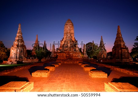 Wat Chaiwatthanaram , Ayutthaya , Thailand