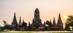 Wat Chaiwatthanaram is a Buddhist temple in the city of Ayutthaya Historical Park, Thailand, on the west bank of the Chao Phraya River, outside Ayutthaya island.