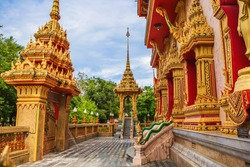 Wat Chalong Temple Complex in Phuket, Thailand.