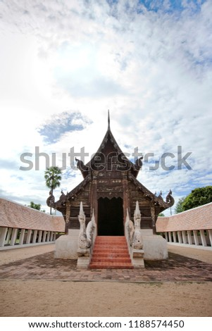 Wat Changwat (Wat Inthanawat) is an ancient temple that is important in the past. It is a parade of Sri Chom Thong. From Chom Thong to Chiang Mai. #1188574450
