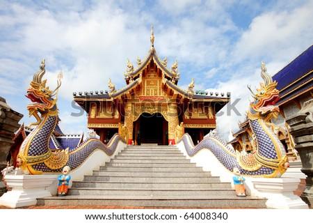 Wat Den Sa Lee Si Mueng Gan,Temples in Chiang Mai, Thailand.