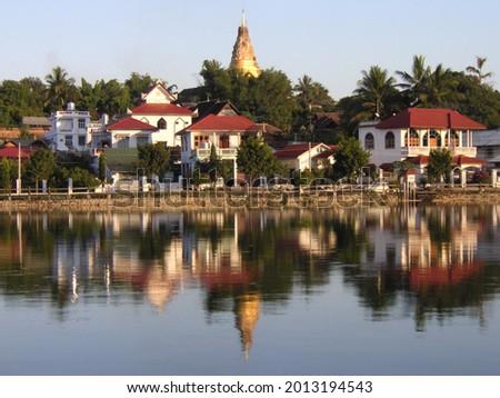 Wat Jong Kham Temple in Kengtung, Myanmar Stockfoto ©