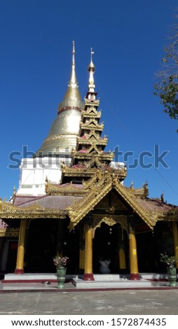 Wat Kaew Doi Tao Suchadaram, Lumpang Buddhist Temples which are located in the northern of Thailand. Stok fotoğraf ©