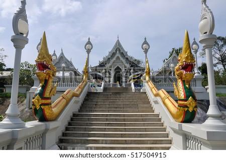 Wat Kaew temple in Krabi, Thailand.