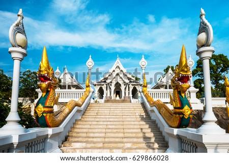Wat Kaew temple in Krabi, Thailand. Wat Kaew is one of the main temples in Krabi province
