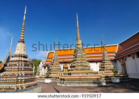 Wat Pho temple,Bangkok, Thailand - stock photo