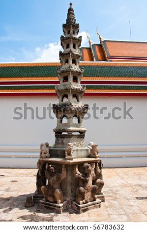 Wat Pho, Temple of the Reclining Buddha - stock photo
