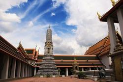 Wat Phra Chetuphon ,Wat Pho - Temple of the Reclining Buddha, Bangkok Thailand. stock photo