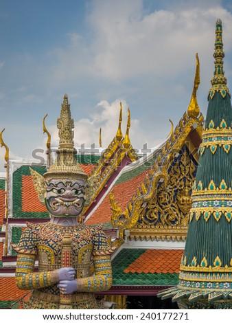 Wat Phra Kaeo. Bangkok, Thailand.