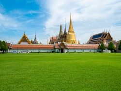 Wat Phra Kaew, Temple of the Emerald Buddha Wat Phra Kaew is one of Bangkok's most famous tourist sites and it was built in 1782 at Bangkok, Thailand , Grand Palace in Bangkok