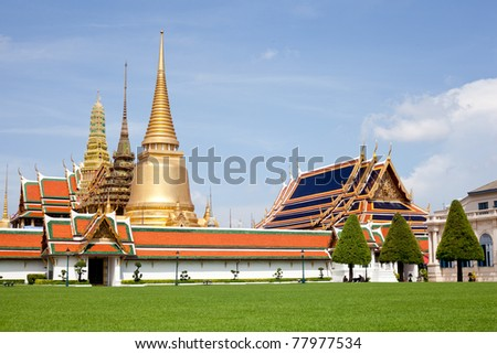 Wat Phra Kaew tourism travel in thailand.at bangkok of thailand.wat phra kaew travel of thailand.