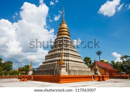 Wat Phra Ked. Province Phayao. Thailand.