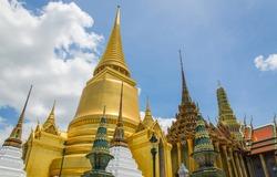 Wat Phra Si Rattana Satsadaram or watphrakaew in Bangkok Thailand