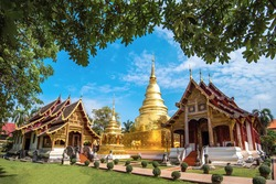 Wat Phra Singh Woramahaviharn, known as the Temple of Lion Buddha, the second most revered temple in Chiang Mai, Thailand