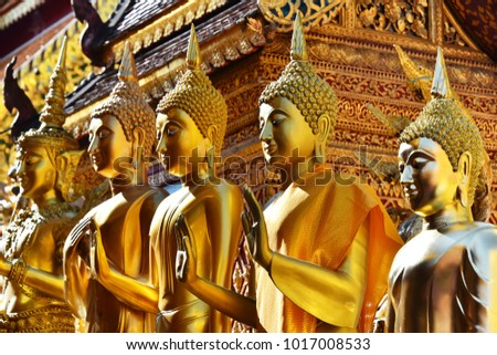 Wat Phra That Doi Suthep, a Buddhist temple in Chiang Mai Province, Thailand Foto stock ©