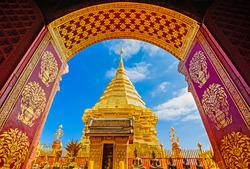 Wat Phra That Doi Suthep, Chiang Mai, Popular historical temple in Thailand.